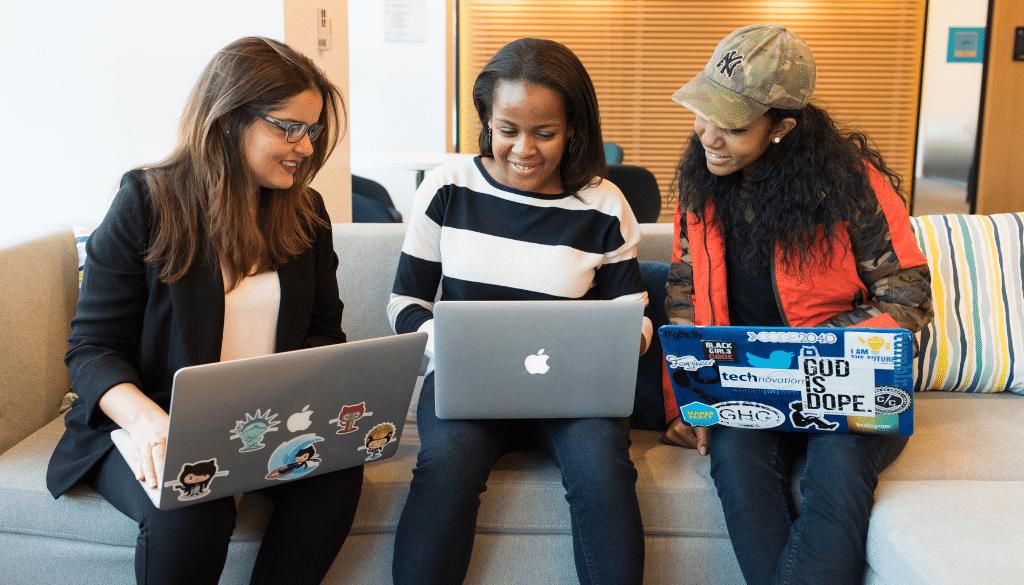 Three young ladies selecting CIS101